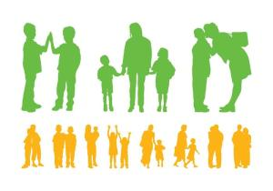 vector-children-and-parents-silhouettes